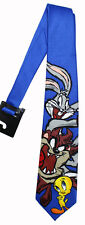 Bugs Bunny Taz & Tweety Neck Tie NEW Mens Blue Looney Tunes NeckTie Adult