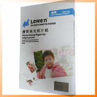 """New  Glossy Photo Paper 4x6"""" A6 For lnkjet printer 50sheets Hot"""