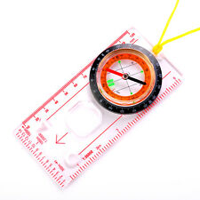 Map Scale Compass Scouts Camping Hiking Baseplate Ruler Army Survival Outdoor