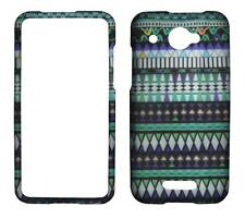 For  HTC Droid DNA 4G LTE 6435 Blue Aztec Plane Case Hard Phone Cover