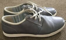 CLARKS Mens Leather Lace Up Shoes - Mid Grey - Size UK 10 G (Euro 45) NEW