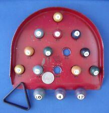 Vtg Rare Girard Toys Skee Ball Marble Game with Miniature Pool Billiard Balls