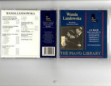Wanda Landowska JS Bach Recordings Piano Library CD