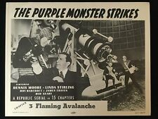 THE PURPLE MONSTER STRIKES SCI FI HORROR SERIAL R57 LOBBY CARD SET TITLE