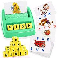 ATOPDREAM Toys for 3-8 Year Old Girls, Toddler Toys Scrabble Board Game Learning
