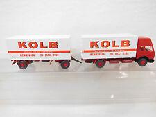 "eso-6037Wiking 1:87 Mercedes MB LKW mit Anhänger ""Kolb"""