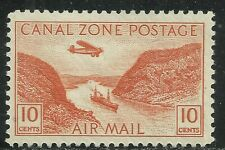 U.S. Possession Canal Zone Airmail stamp scott c9 - 10 cent issue mlh - #7