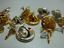 Silver Plated 6-10 Pin Backs & Brooch Components