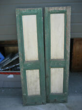 """PaiR c1840-50 PANELED house shutters forged hardware GREAT patina 63.5"""" x 15.5"""""""