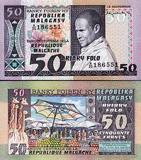 Madagascar 50 Francs - 10 Ariary, 1974 -1975, UNC, P-62