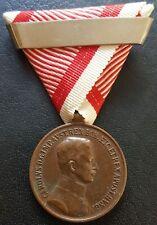 ✚8337✚ Austro-Hungarian WW1 Bravery Medal BRONZE IV. KARL POST 1916 REPEAT CLASP