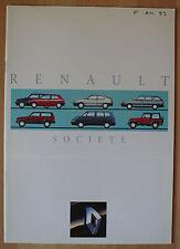 Très rare Catalogue Renault Société - France - 1993 - 5 Clio 19 21 Jeep Espace
