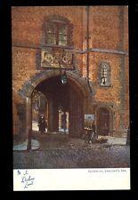 Literature DICKENS Land Lincoln's Inn Gateway Tuck Art series #1164 PPC