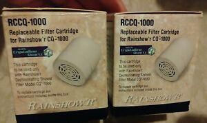Lot of 2 Rainshow'r RCCQ Shower Replacement Filter Cartridge CQ-1000 Rainshower