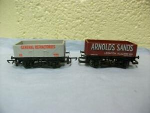 Open Wagon 'General Refractories'/'Arnold Sands' x 2 By Hornby R.210/R.717 '00'