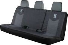 Browning Bench Seat Cover Full Size Trucks SUVs Black And Grey