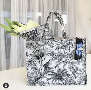 H&M Limited Edition Jacquard Weave Fabric Cotton Large Book Tote Handbag Bag