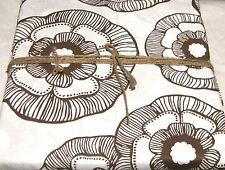 Pottery Barn Dorm Duvet Cover Twin Size Mini Fleur Organic Coffee Brown PB Teen