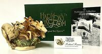 Vintage Harmony Kingdom RETIRED RACERS Greyhound Box Figurine Zookeepers