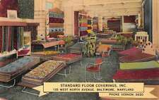 Baltimore Maryland Standard Floord Coverings Ad Antique Postcard J45612