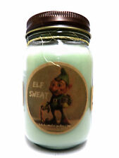 Elf Sweat Christmas 16oz Country Jar Soy Candle Wholesale Novelty Candles