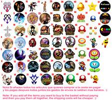 Chapa Button Badge Pins Kingdom Hearts Mario Bross Pacman League Leyend Gamers