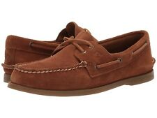 Men's Sperry Top-Sider A/O Two-Eye Suede Boat Shoe, STS19436 Multi Sizes Drk Tan