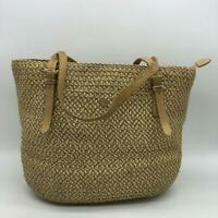 Eric Javitz Tan Raffia Shoulder Bag