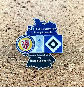 Pin Eintracht Braunschweig vs Hamburger SV HSV DFB Pokal 2021/22