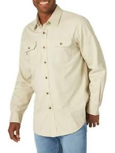 Wrangler Men's Pick Color Comfort Flex Twill Long Sleeve Button-up Shirts: S-3XL