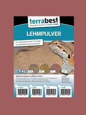 Terrabest Lehmpulver - rot 5kg zum mischen von Terrariensand Naturlehm