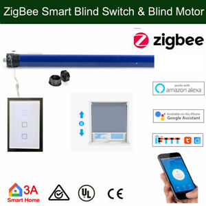 Smart ZigBee Blind Switch, 35mm Roller Blind Tubular Motor 4 Automation Voice Co