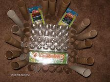 8 Clear Plastic Tri-Fold Egg Carton 20 Toilet &14 Paper towel rolls craft art
