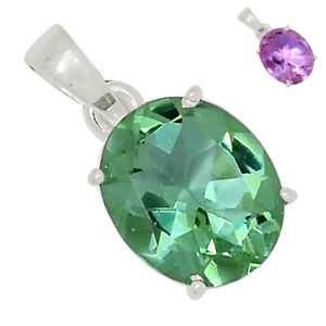 Colorchange Alexandrite (Lab.) 925 Sterling Silver Pendant Jewelry BP89729