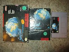 SimEarth: The Living Planet (Super Nintendo SNES, 1992) Complete in Box FAIR