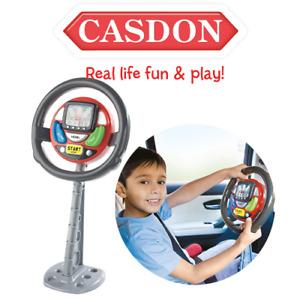 Casdon 634 Back Seat Driver Kids Car Sat Nav Steering Wheel Pretend Roleplay Toy