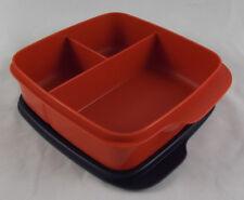 Tupperware Clevere Pause Rotbraun / Blau 550 ml Lunchbox Dose Büchse Neu OVP