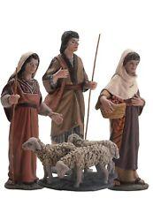 Figura Belen J.L. Serie 11 maggio cm. Gruppo di pastori e branco - BEL919