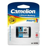 PILA BATTERIA 2CR5 6V DL 245 EL CAMELION MACCHINA FOTOGRAFICA PHOTO LITIO FOTO