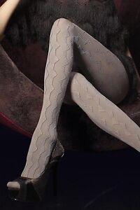 "60 DEN EMBOSSED 3D OPAQUE TIGHTS WITH ELASTANE ""NUBIA"" grey"