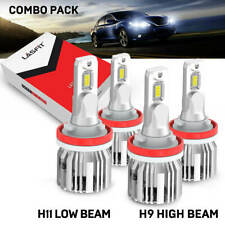 LED Headlight High Low Beam for Nissan Sentra 13-2019 4x Bulbs H11 H9 Cool White