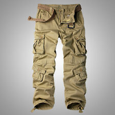 Men's Cotton Utility Military Army Cargo Camo Combat Work Pants Multi Pockets