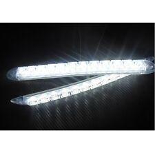 White Waterproof Car Daytime Running Light DRL Fog Lamp 12LED Daylight Universal