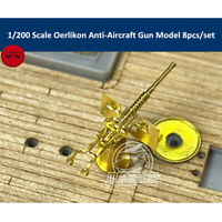 1/200 Scale Oerlikon Anti-Aircraft Gun for Missouri Iowa Ship Model 8pcs/set