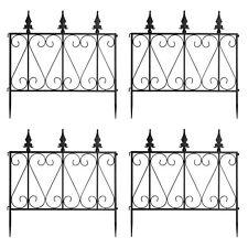 24in x 8Ft Outdoor Decorative Garden Fence Animal Border Plants Fencing