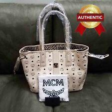 NEW Authentic MCM Medium Reversible Liz Shopper tote Beige