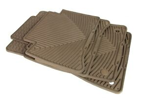 03-09 Mercedes W211 E320 E350 E55 Rubber Floor Mat Set Brown WeatherTech