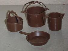 Vintage Mattel BIG JIM SPORTS Camping Pots, Skillet & Coffee Pot - 1973