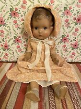 Vintage/Antique All Composition Baby Doll Unmarked Painted Features Molded Hair