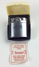 Vintage Ronson sport lighter with box and paper excellent condition
